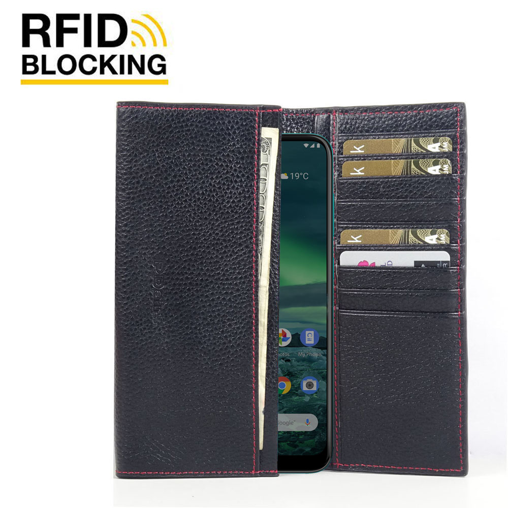 10% OFF + FREE SHIPPING, Buy the BEST PDair Handcrafted Premium Protective Carrying Nokia 2.3 Leather Continental Sleeve Wallet (Red Stitching). Exquisitely designed engineered for Nokia 2.3.