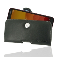Leather Horizontal Pouch Case with Belt Clip for Nokia C1