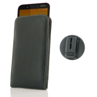 Leather Vertical Pouch Belt Clip Case for Nokia C1