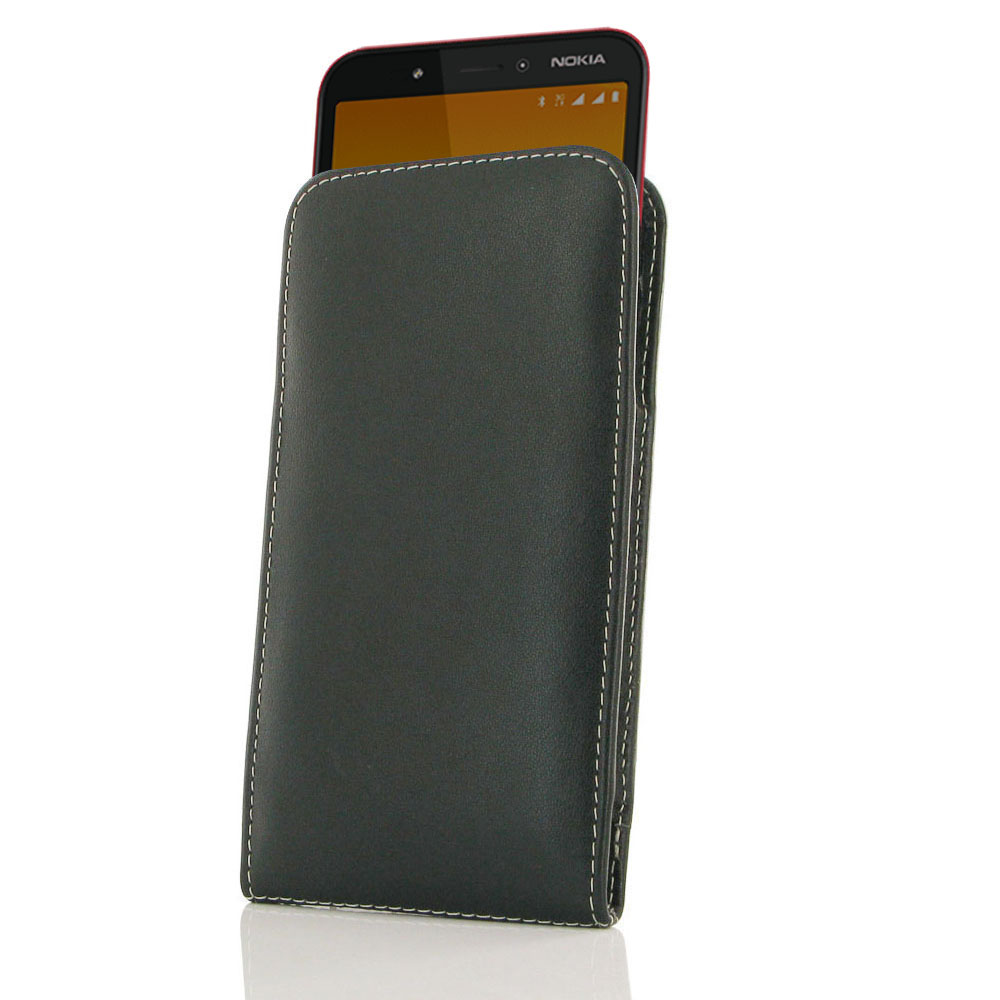 10% OFF + FREE SHIPPING, Buy the BEST PDair Handcrafted Premium Protective Carrying Nokia C1 Leather Sleeve Pouch Case. Exquisitely designed engineered for Nokia C1.