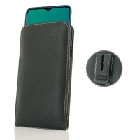 Leather Vertical Pouch Belt Clip Case for OPPO A9 (2020)