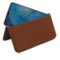 Leather Wallet Pouch for OPPO Reno3 (Brown)
