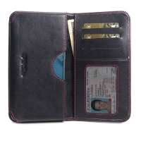 Leather Card Wallet for OPPO Reno3 (Red Stitch)