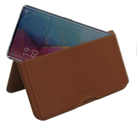 Leather Wallet Pouch for OPPO Reno3 Pro (Brown)