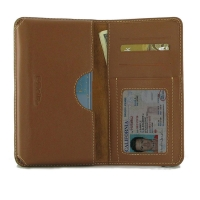 Leather Card Wallet for OPPO Reno3 Pro (Brown)