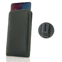 Leather Vertical Pouch Belt Clip Case for OPPO Reno3 Pro