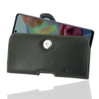 Leather Horizontal Pouch Case with Belt Clip for Samsung Galaxy A71