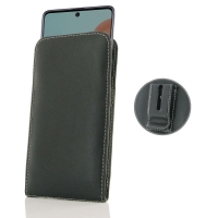 Leather Vertical Pouch Belt Clip Case for Samsung Galaxy A71