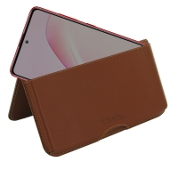Leather Wallet Pouch for Samsung Galaxy Note 10 Lite (Brown)
