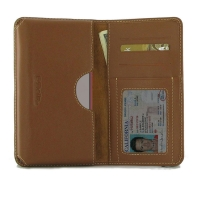 Leather Card Wallet for Samsung Galaxy Note 10 Lite (Brown)