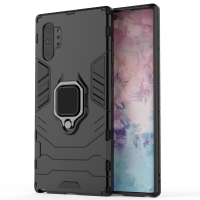 Armor Protective Case With Metal Magnetic Ring for Samsung Galaxy Note 10 Plus | Samsung Note 10+ (Black)