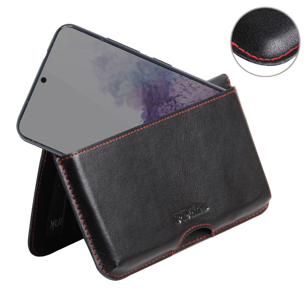 10% OFF + FREE SHIPPING, Buy the BEST PDair Handcrafted Premium Protective Carrying Samsung Galaxy S20 Leather Wallet Pouch Case (Red Stitch). Exquisitely designed engineered for Samsung Galaxy S20.