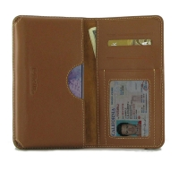 Leather Card Wallet for Samsung Galaxy S20 (in Slim Case/Cover) (Brown)