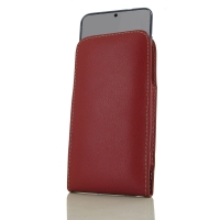 Leather Vertical Pouch Case for Samsung Galaxy S20 (in Slim Case/Cover) (Red)