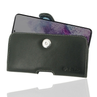 Leather Horizontal Pouch Case with Belt Clip for Samsung Galaxy S20