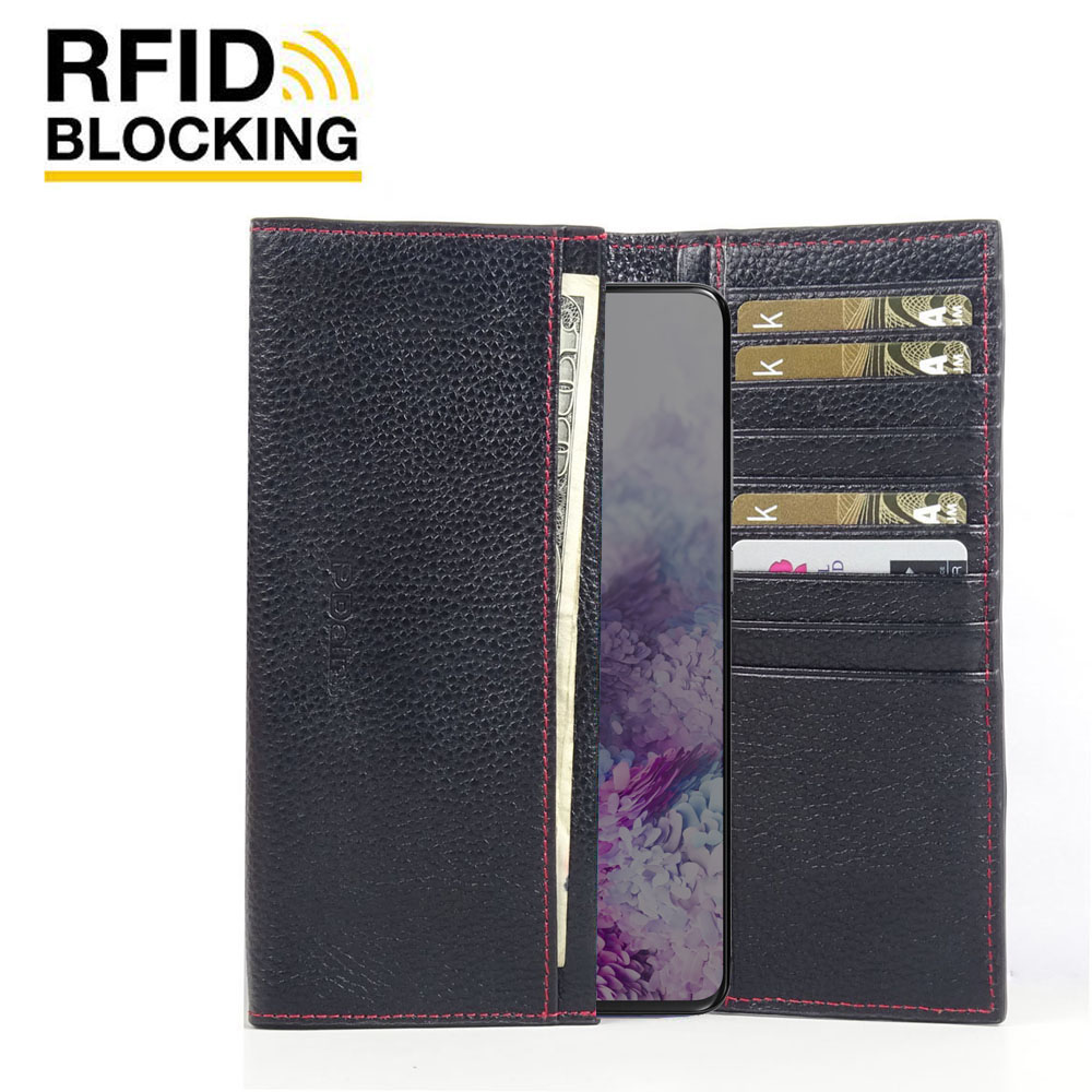 10% OFF + FREE SHIPPING, Buy the BEST PDair Handcrafted Premium Protective Carrying Samsung Galaxy S20 Leather Continental Sleeve Wallet (Red Stitching). Exquisitely designed engineered for Samsung Galaxy S20.