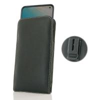 Leather Vertical Pouch Belt Clip Case for ViVO V17 (India)
