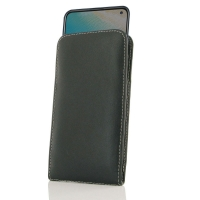 Leather Vertical Pouch Case for ViVO V17 (India)