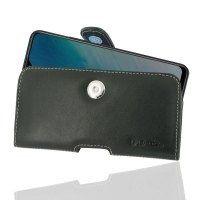 Leather Horizontal Pouch Case with Belt Clip for ViVO Y19