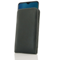 Leather Vertical Pouch Case for ViVO Y19