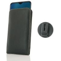 Leather Vertical Pouch Belt Clip Case for ViVO Y19